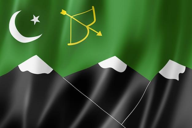 Burusho mensen etnische vlag, pakistan