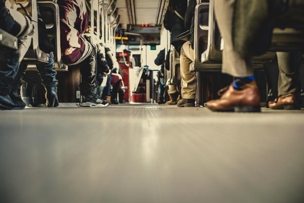 Bus floor view