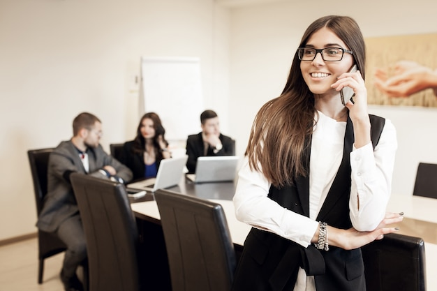 Business busines jonge discussie training