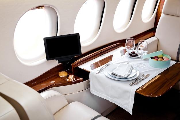 Business jet vliegtuigen binnenaanzicht