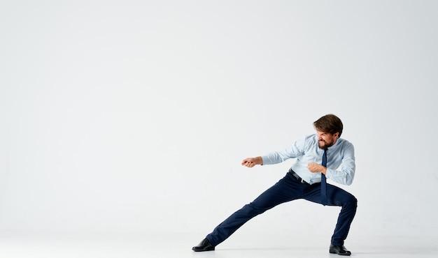 Business man office manager financiën emoties