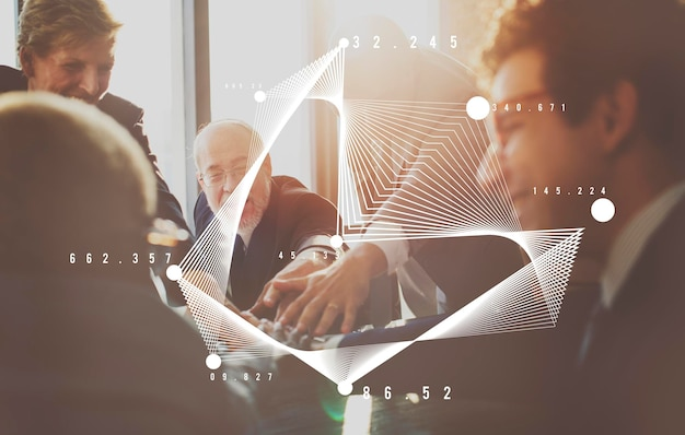Business mensen discussie planning analyse concept
