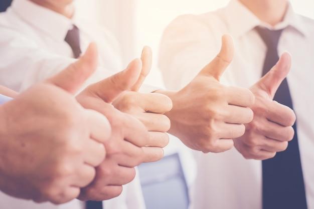 Business team duimen opdagen als als teken