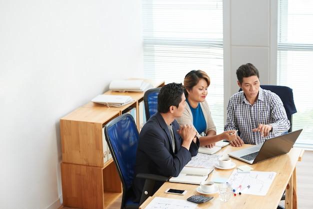 Business team ontwikkelen plan