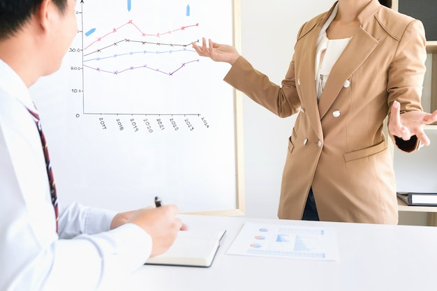 Business team werken op een kantoor, vergadering concept