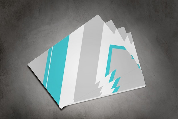 Businesscard op een concrete achtergrond, het 3d teruggeven