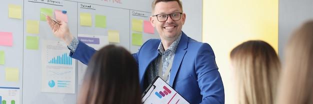Businesscoach geeft trainingsseminar voor ondernemers