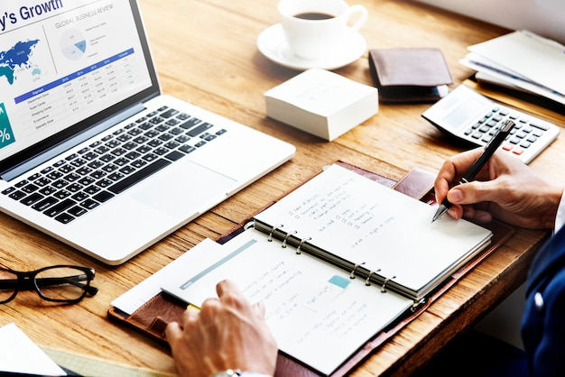 Businessplan strategie groei succes concept