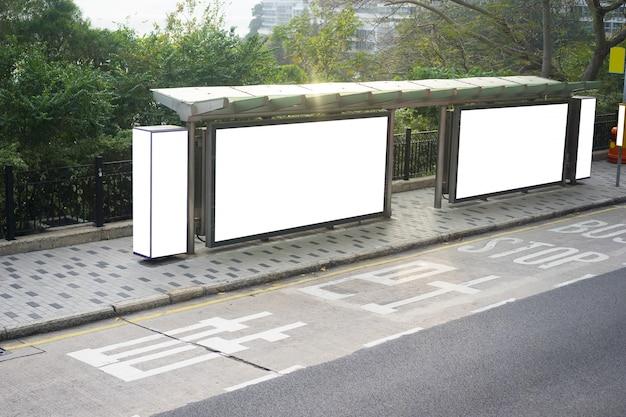 Busstation billboard