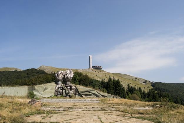 Buzludja, huis van de bulgaarse communistische partij op shipka-piek