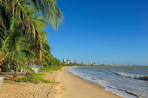 Cabo branco strand in joao pessoa paraiba brazilië op 23 augustus 2012