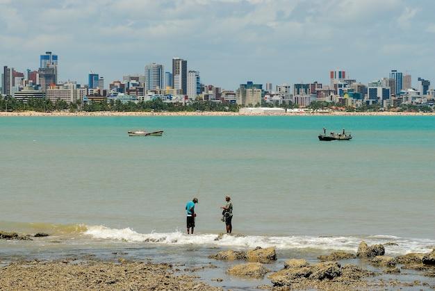 Cabo branco strand joao pessoa paraiba brazilië