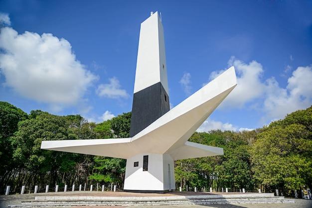 Cabo branco vuurtoren in de stad joao pessoa paraiba brazilië op 17 oktober 2012