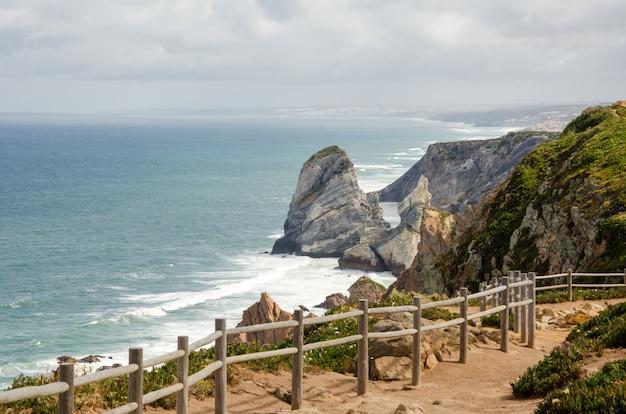 Cabo da roca kliffen in portugal
