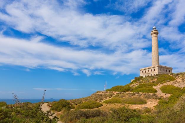 Cabo de palos-vuurtoren dichtbij mar menor spanje