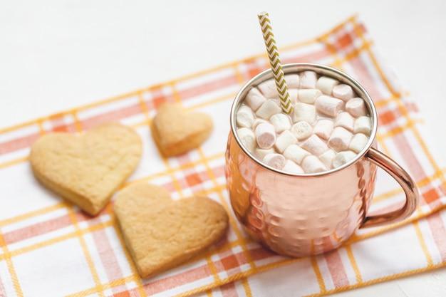 Cacao en hartkoekjes