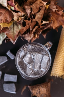 Cacao met marshmallows. gezellige winterdrank.