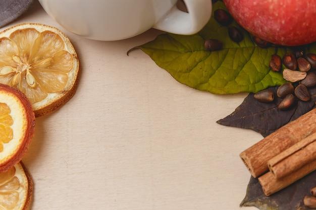 Cacao of latte of warme chocolademelk met kaneel
