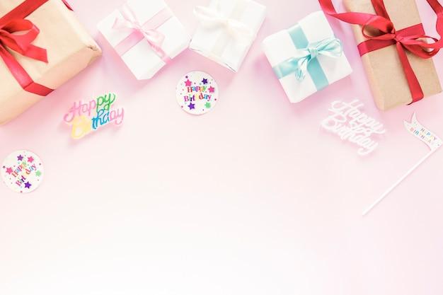 Cadeaus bij verjaardagsgeschriften