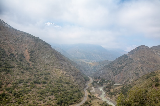 Cajon del maipo in de buurt van santiago, chili