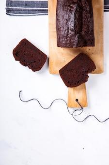 Cake, cupcake met bananen en chocolade
