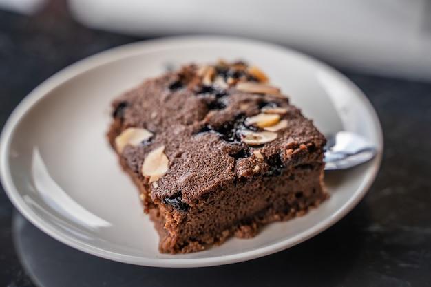 Cake in de plaat