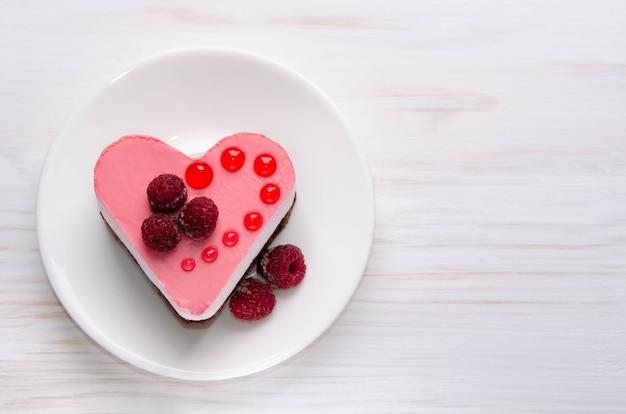 Cake in de vorm van een hart