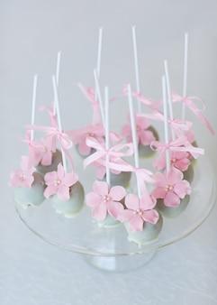 Cake springt op glas