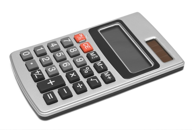 Calculator op geïsoleerd wit