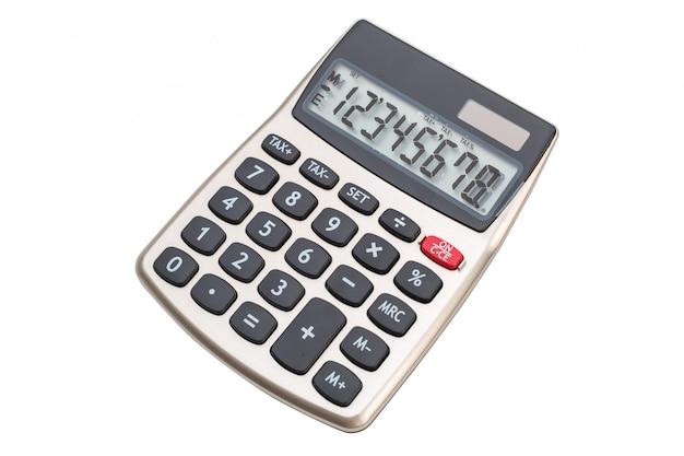 Calculator op wit oppervlak