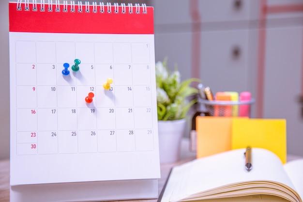 Calendar event planner is busy.calendar, clock to set timetable organisation schedule.
