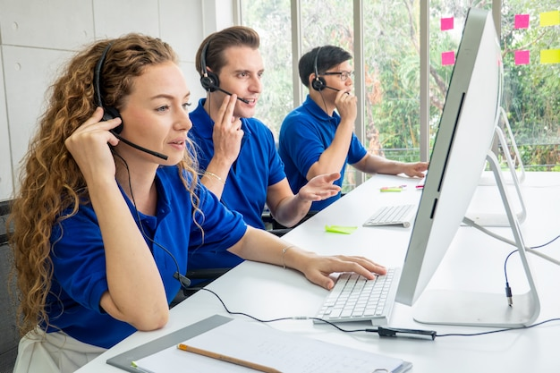 Call center dienstverleningsconcept