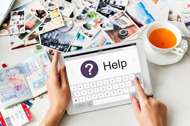 Call center informatie operator service grafisch concept