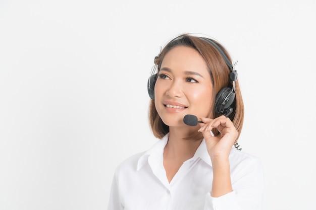 Call center operator vrouw.