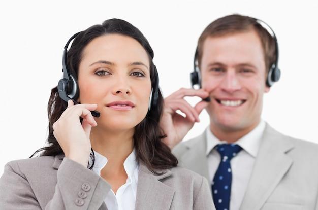 Call center team met hun headsets