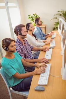 Callcentercollega's op het werk