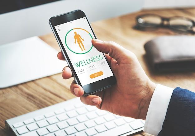 Calorie teller gezondheid dieet app concept