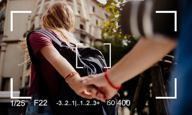 Camerafoto scherpstelopname kopieer de ruimte