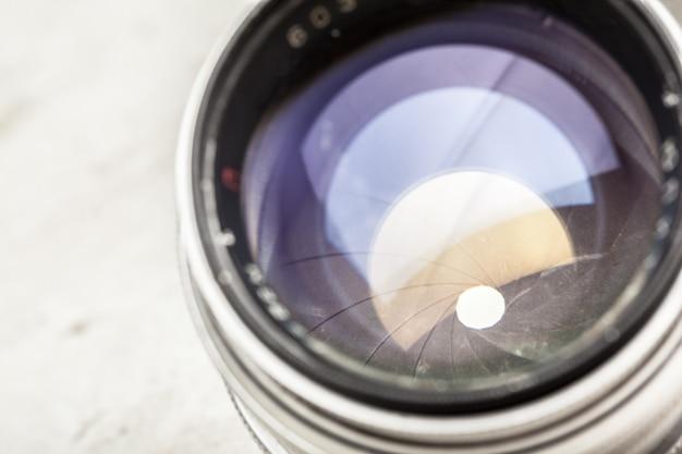 Cameralens close-up