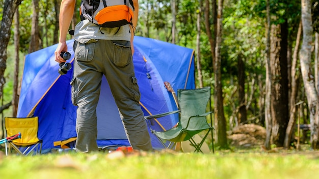 Camp forest adventure travel remote relax
