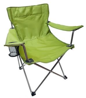 Camping stoel geïsoleerd op wit