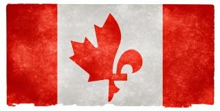 Canada fusie grunge vlag quebecois