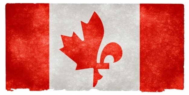 Canada fusie grunge vlag