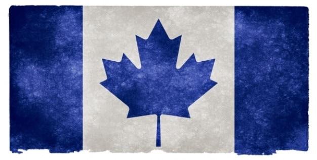 Canada grunge vlag blauw