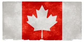 Canada grunge vlag omgekeerd