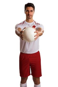 Canadees futebolvoetbal in witte ruimte