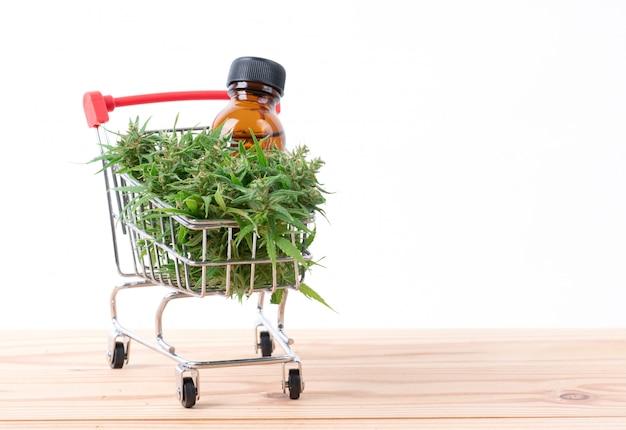 Cannabis met cannabidiol-extract