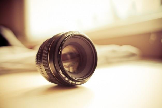 Canon lens detail foto