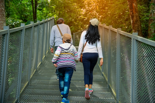 Canopy walkway, thailand's langste boomtop loopbrug opent in de queen sirikit botanical garden