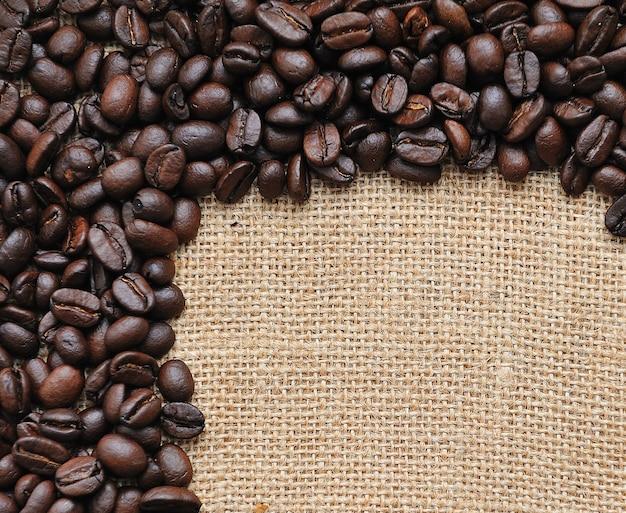 Canvas en koffiebonen